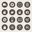 Supermarket services icon set — Stock Vector #38317031