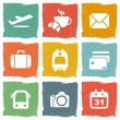 Stock Vector: Travel icon set
