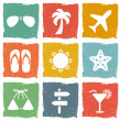 Vacation icon set — Stock Vector #38317843