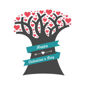 Valentine's Day tree — Stock Vector