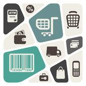 Supermarket services design — Stock Vector