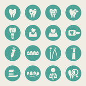 Dental icon set — Vector de stock