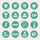 Jeu d'icônes dentaire — Vecteur