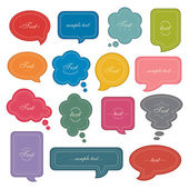 Speech bubble set — Stok Vektör