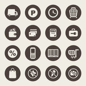 Supermarket services icon set — Vector de stock