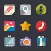 Flat web icon set — Stock Vector