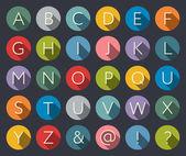 Iconos planos alfabeto — Vector de stock