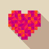 Heart flat style vector illustration — Stock Vector