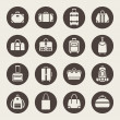 Stock Vector: Baggage icon set