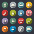 Stock Vector: Camping flat icons