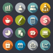 Stock Vector: Business theme flat icons