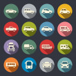 Car flat icon set — Stock Vector