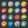 Holidays flat icons — Stock Vector