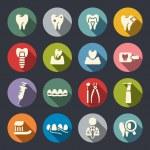 Dental theme flat icons — Stock Vector #40627665