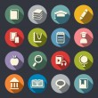 Book flat icons set — Stock Vector #40627675