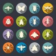 Insects icon set — Stock Vector #40627905