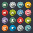 Stock Vector: Email icon set
