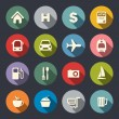 Stock Vector: Travel map icons