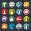 Travel landmarks icon set — Stock Vector #40627973