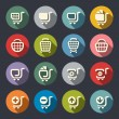 Stock Vector: Shopping cart icon set