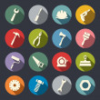 Stock Vector: Tools icon set