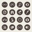 Stock Vector: Optical icon set