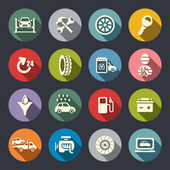 Car service flat icon set — Stock Vector