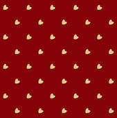 Retro seamless pattern with hearts — Stock Vector