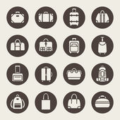 Baggage icon set — Stock Vector