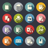 Book flat icons set — Stock Vector
