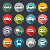 Car flat icon set — Stock Vector