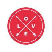 Love emblem — Stock Vector