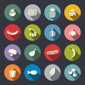 Food icon set — Stock Vector