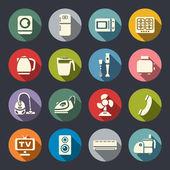 House appliances icon set — Stock Vector