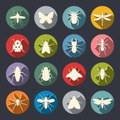 Insects icon set — Wektor stockowy