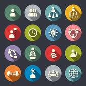 Management ikonuppsättning — Stockvektor