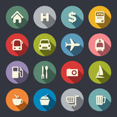Travel map icons — Stock Vector