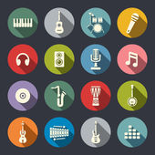 Music icon set — Stock Vector