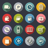 Supermarket services icon set — Stock Vector