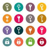Key icon set — Stock Vector