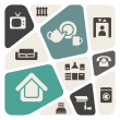 Home rental theme icon set — Stock Vector
