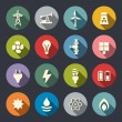 Energy icon set — Stock Vector #42876371