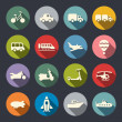 Transport icon set — Stock Vector #42876401