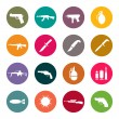 Weapon icon set — Stockvector
