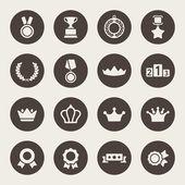 Awards icons set — Stock Vector