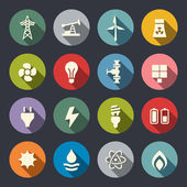 Energy icon set — Stockvektor
