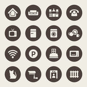Home rental services icon set — Stock Vector