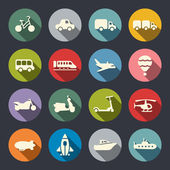 Transport icon set — Vector de stock