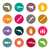 Weapon icon set — Stock Vector