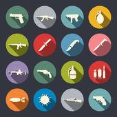 Weapon icon set — Stock Vector